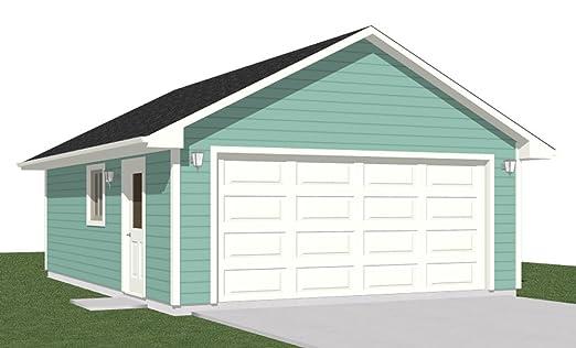 Amazon.com: Garage Plans: 2 Car Garage Plan 500-1 - 20' x 25 ... on 10 x 20 house, 12 x 20 house, 15 x 20 house, 20 x 20 house, 8 x 20 house, 16 x 20 house,