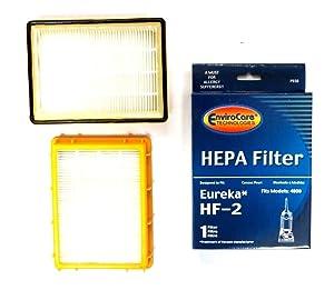 EnviroCare Replacement Vacuum HEPA Filters for Eureka HF-2 Ultra Smart, Boss, Omega, UltraSmart Vac Cyclonic, Whirlwind Uprights 3 Filters