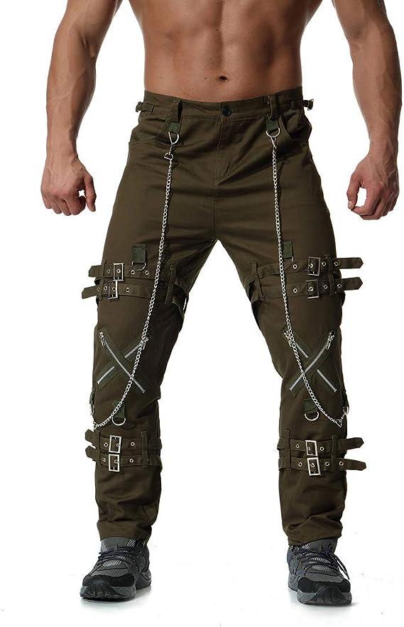 Pantalones Vaqueros Hombre, Jeans Ropa gótica Hombre Pantalon ...