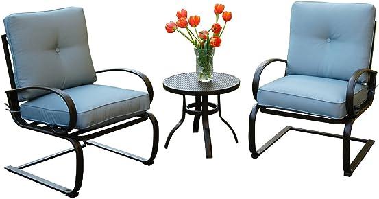 Kozyard Susan 3 PCs Patio Bistro Set Outdoor Furniture