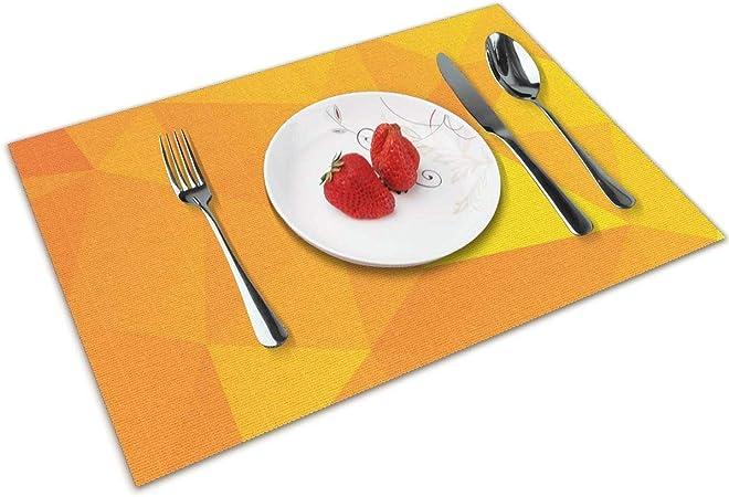 sky-yb Juego de manteles Individuales Combinados con triángulo Dorado Juego de 6 tapetes de Mesa Antideslizantes Antideslizantes para Cocina: Amazon.es: Hogar