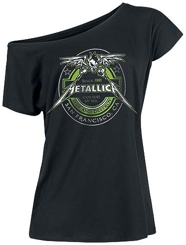 Metallica 100% Fuel Camiseta Mujer Negro