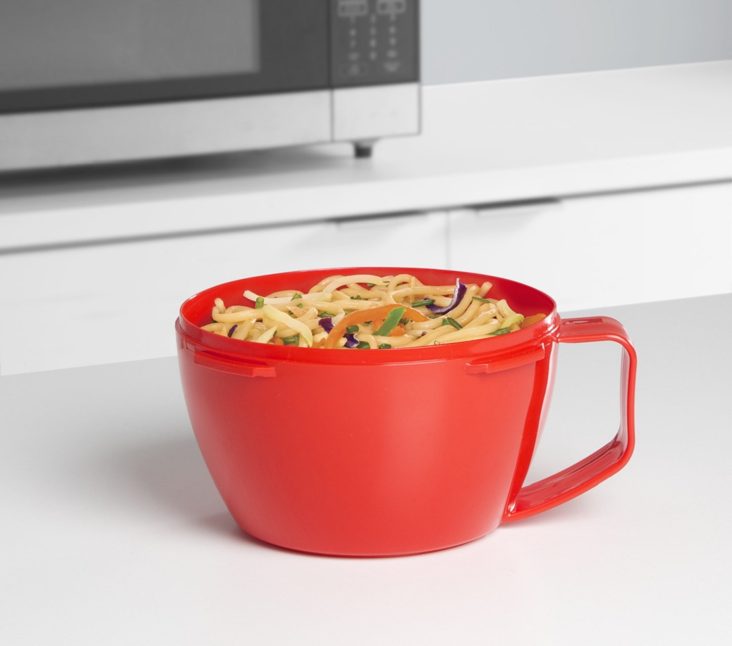 Sistema Microwave Collection Noodle Bowl, 31.7 oz./0.9 L, Red (1109ZS) by Sistema (Image #4)
