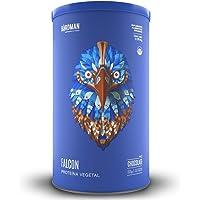 Falcon Protein Birdman, Proteina Vegetal (Vegana) en polvo Certificada Orgánica Sabor Chocolate 1,170kg