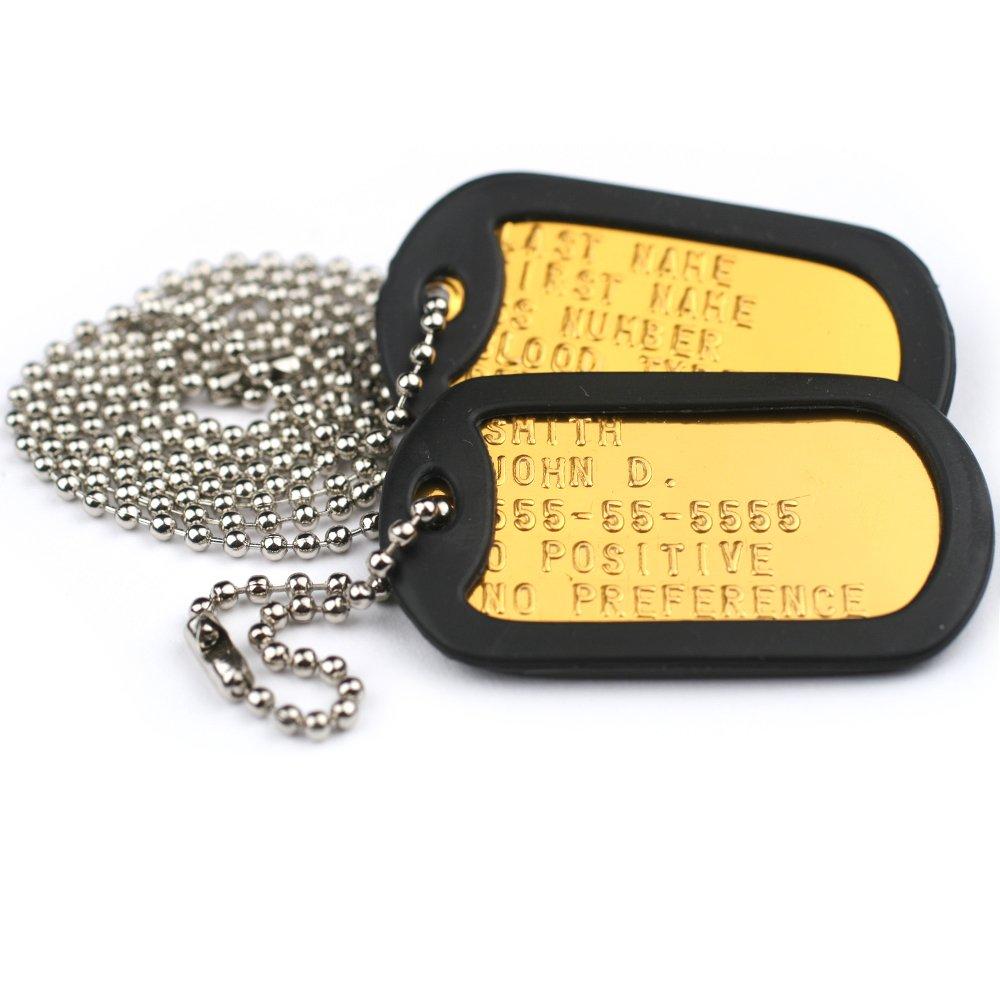 GoTags Pet ID Custom US Military Dog Tag