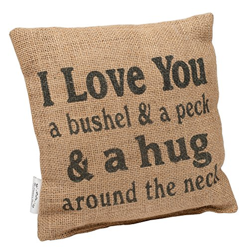 Swell Country House Collection 8 X 8 Mini Burlap Pillow Bushel And A Peck Customarchery Wood Chair Design Ideas Customarcherynet
