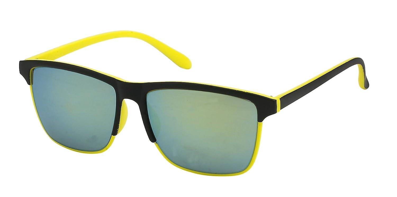 Sonnenbrille Steg hoch Gestell dünn 400 UV schwarz bunt Herren dunkelblau m6JZ6VzsYK