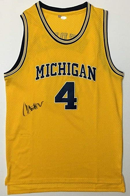 newest 99833 e0763 Chris Webber Autographed Signed Michigan Wolverines ...