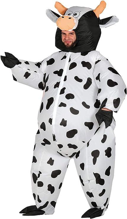 Costume da mucca-Costume Adulto Animale da azienda uomo donna Vestito Tuta Unisex