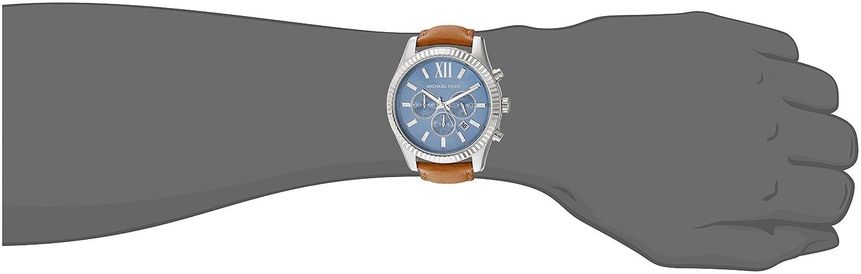 14c570c95fd0 Buy Michael Kors Men s Lexington Brown Watch MK8537 Online at Low Prices in  India - Amazon.in