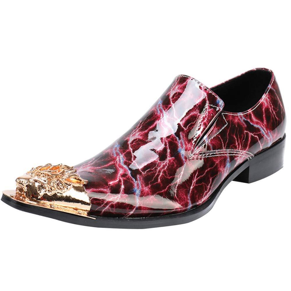 FuweiEncore Herrenmode Rot Hochzeit Schuhe Business Casual Schuhe (Farbe   Rot, Größe   38EU)