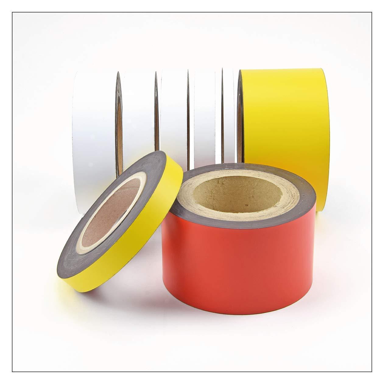 10 Meter Gelb Rot Gr/ün Blau Wei/ß 10-100mm Kennzeichnungsb/änder Magnetbandrolle Magnetband Blau, 10 mm H/öhe Magnetisches Beschriftungsband als Rollenware