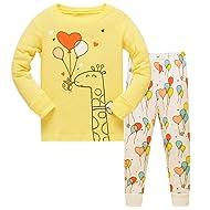 Tkala Girls Pajamas Children Clothes Set Deer 100% Cotton Little Kids Pjs Sleepwear