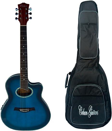 Coban Guitars Guitars - Guitarra electroacústica de color azul ...