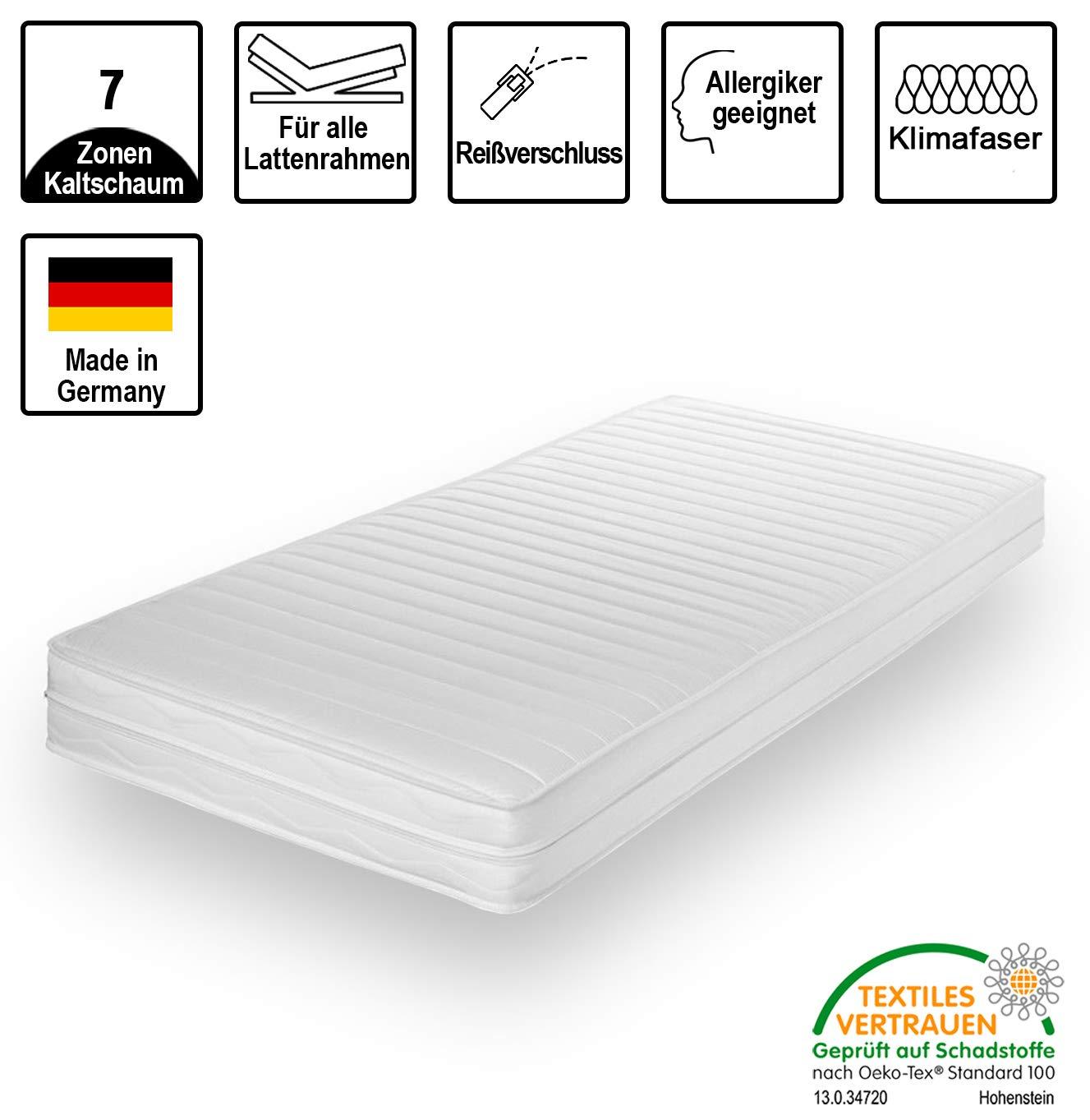 Matratze H/ärtegrad 2 /& H3 cpt hydrovital v16 Kindermatratze /& Jugendmatratze Kaltschaummatratze Made IN Germany Rollmatratze mit Microfaser Bezug