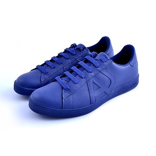 Aj Pelle Blu 935565 Armani Cina 42 Jeans Uomo Sneakers 6vyYb7fg