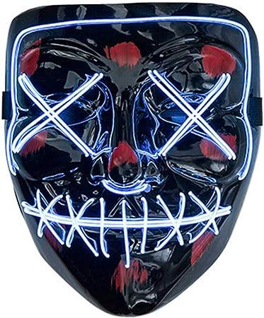 EL Wire Iluminar Máscara de Purga Máscara de luz fría LED Máscara ...