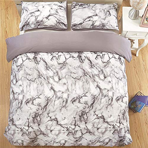 MRXUE Halloween Duvet Cover Set Bedding 3 Pcs 100% Polyester King Size - 90Gsm Fine-Twill Microfiber Fabric Washed Cotton - Ultra Soft Hypoallergenic Rock,Usqueen -
