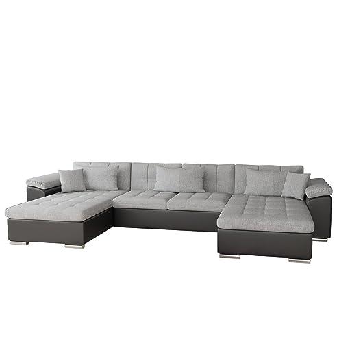 Ecksofa u form mit schlaffunktion  Ecksofa Wicenza Bris! Elegante Big Sofa mit Schlaffunktion ...