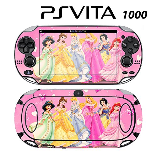 Decorative Video Game Skin Decal Cover Sticker for Sony PlayStation PS Vita (PCH-1000) - Princess Friends Pink Jasmine Cinderalla Snow White (Snow Playstation Princess)