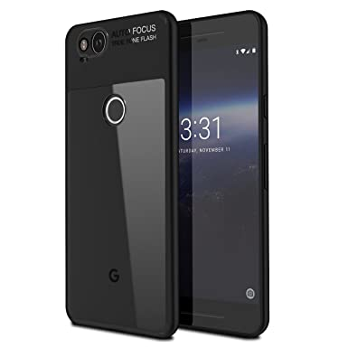 designer fashion 545de 0e4da Basstop Google Pixel 2 Case, 2 in 1 TPU+PC Shockproof Protective  Transparent Cover Case for Google Pixel 2