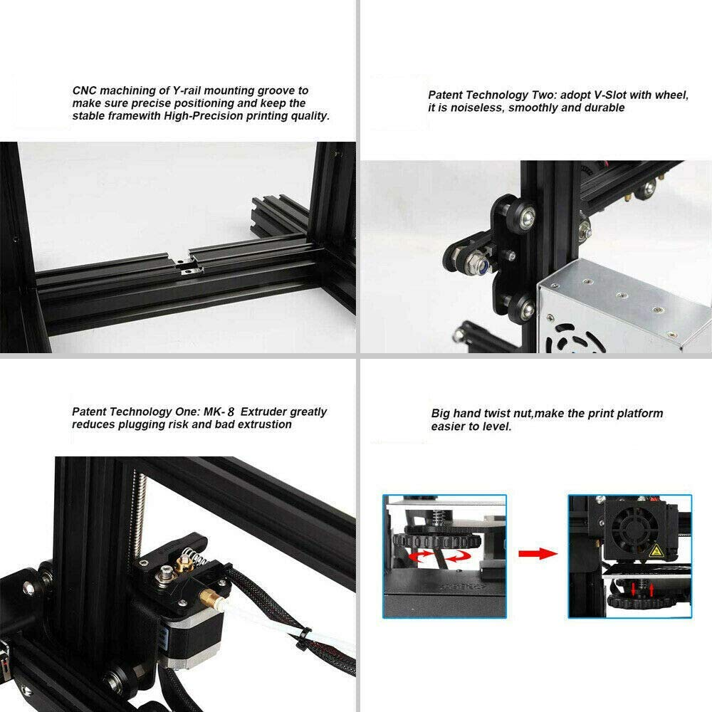 250 mm 220 Colorfish A13 3D printer with Magnetic Build Surface Resume Print 3D Printers with open source and excellent print quality printing area is 220