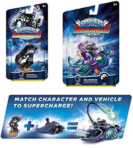 Skylanders Superchargers Character & Vehicle Bundle - Nightfall & Sea Shadow