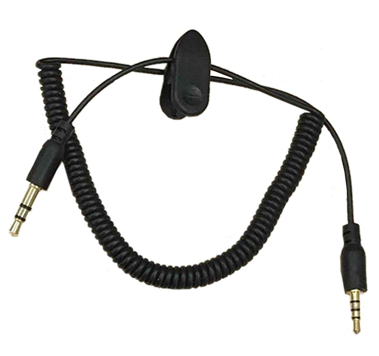 Veetop Accesorios para Casco/ Intercomunicador moto ; Auriculares con microfono, Cable cargador, Cable audio, Kit tornillos, Velcro adhesivo: Amazon.es: ...