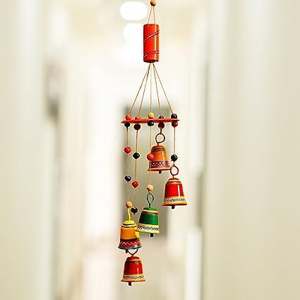 ExclusiveLane Home Decorative Metal Hanging Bells Wind Chimes 99 Cm X 541