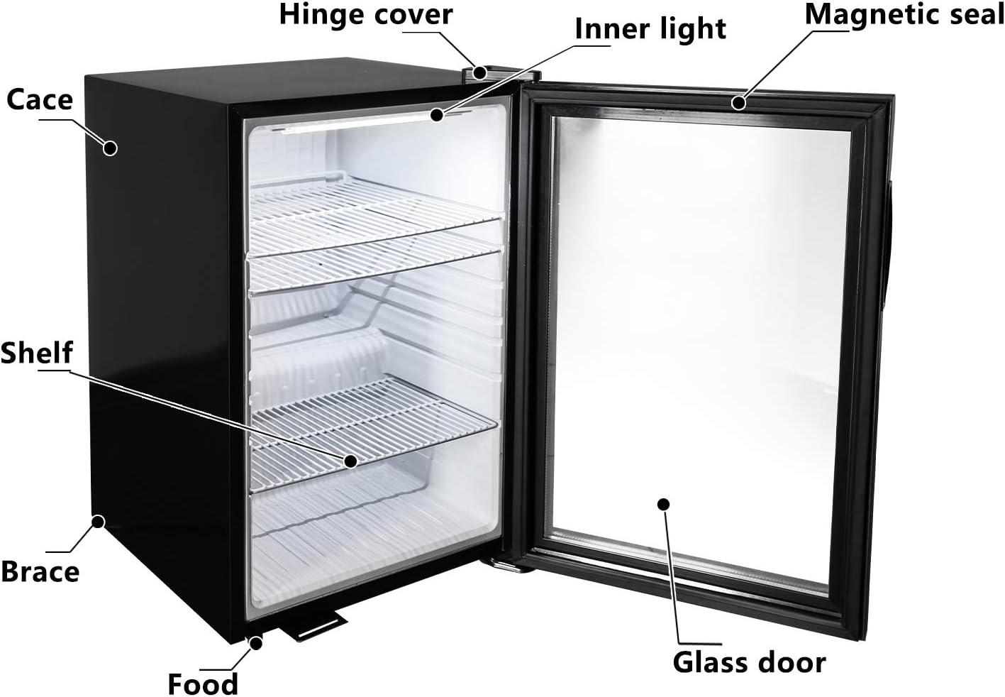 KITMA refrigerador y refrigerador para bebidas, minibar de 150 ...