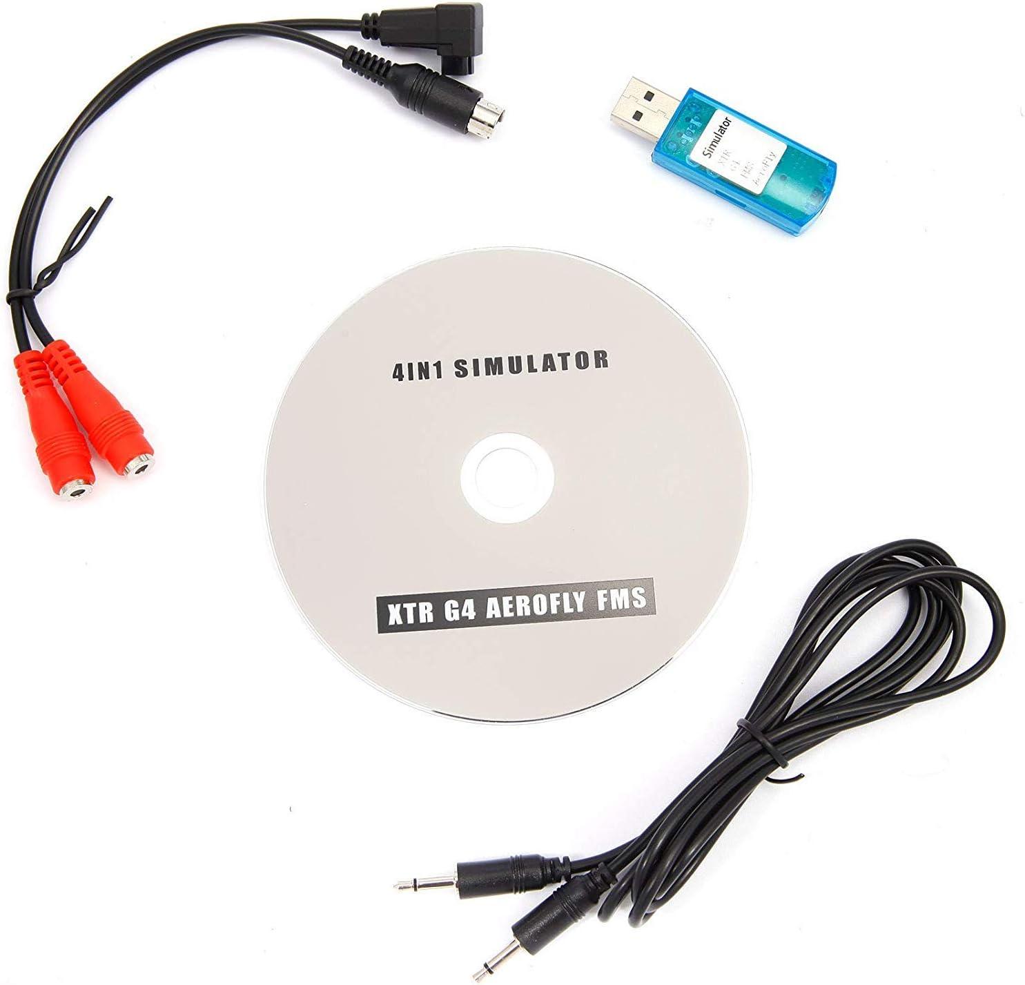 YUNIQUE Espagne® Cable simulador de Vuelo USB para DX6E DX6I DX7 JRS JR Futaba RC Esky Spectrum RealFlight XTR G4 AEROFLY FMS (Ejercicio con Controlador RC para helicópteros en PC): Amazon.es: Electrónica