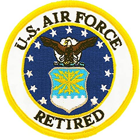 US Air Force Retired Logo Round Patch Military Gifts Patches for Jackets Hats Vests - Military Vet Patch