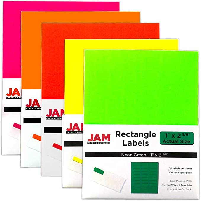 Amazon Jam Paper Mailing Address Labels 1 X 2 58