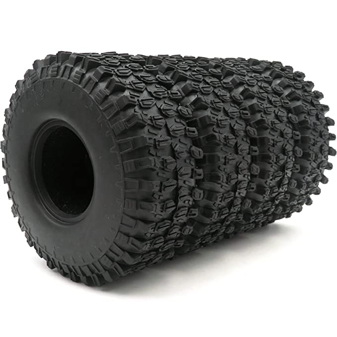hobbysoul 5pcs RC 1.9 Super Swamper Tires 120mm Fit 1:10 Rock Crawler 1.9 Beadlock Wheel Rims