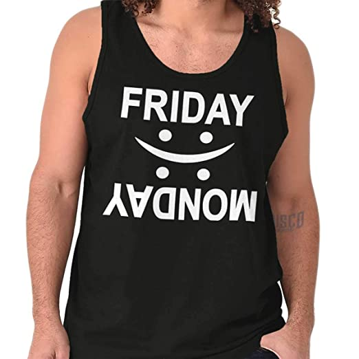 d706d71aa76fd9 Amazon.com  Friday Monday Happy Sad Weekend Vibes Tank Top  Clothing