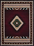 Rugs 4 Less Collection Southwest Native American Indian Area Rug Design R4L 143 Burgundy / Maroon (5'2''x7'2'')