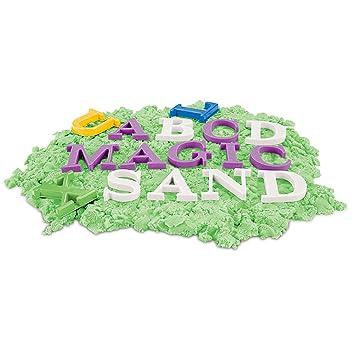 TOYMYTOY Letras Moldes arena de playa - Aprender inglés Playa de arena Pit Toys para niños - 26 piezas alfabeto en mayúscula: Amazon.es: Juguetes y juegos