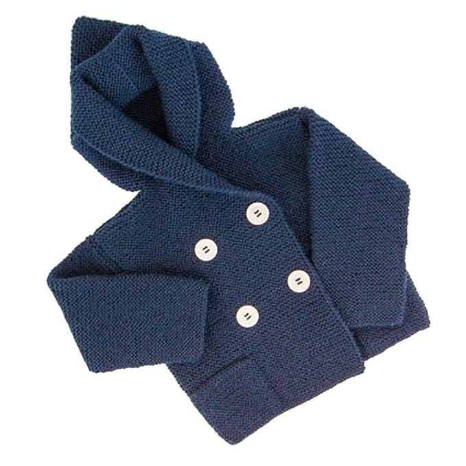 Suéter de Color sólido para niños Niños Baby Girl Boy Jersey de Punto Cardigan de Costura sólida Tops Outfit Clothes Abrigo de Punto: Amazon.es: Ropa y ...