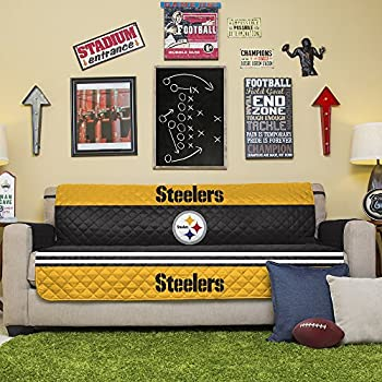 Nice Pegasus Home Fashions NFL Pittsburgh Steelers Sofa Couch Reversible  Furniture Protector With Elastic Straps, 75