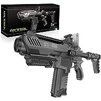 Arma Automatica de Alta Presicion 2 en 1. Arma de Realidad Virtual 3D + Arma de Hidrogel. Color Negro.