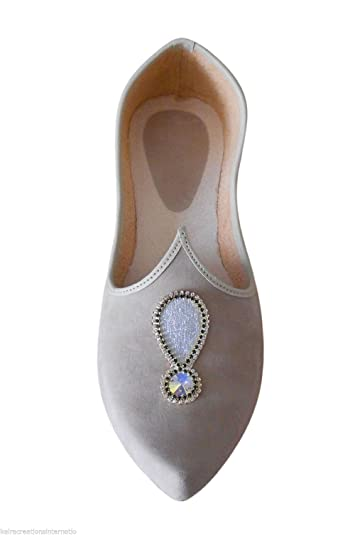 Indian Wedding Shoes Sherwani Jooti Men Khussa Handmade Flip-Flops Flat