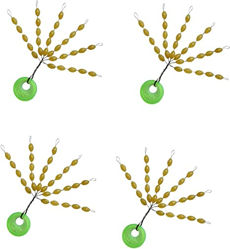 100X Fishing Bobber Stopper Float Line Olive Shape Stoppers Space Beans Outdoor
