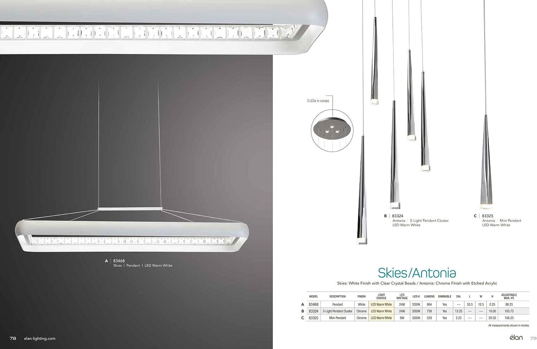 Elan 83325 Antonia Pendant Lighting Chrome Amazon Com