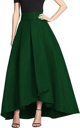 CoutureBridal® Femme Jupe Longue Elégante Jupe Vintage Haille Haute pour Soirée Satin