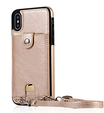 e2c15f3e45b1 Amazon.com : UnnFiko Leather Wallet Case Compatible with iPhone XR ...