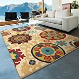 Orian Rugs Indoor/Outdoor Medallion Fahri Multi Area Rug (5'2