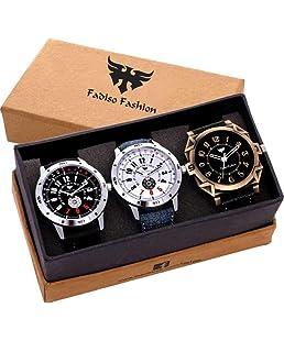 Fadiso Fashion Analogue Multi-Colour Dial Men's Watch Combo (8010)