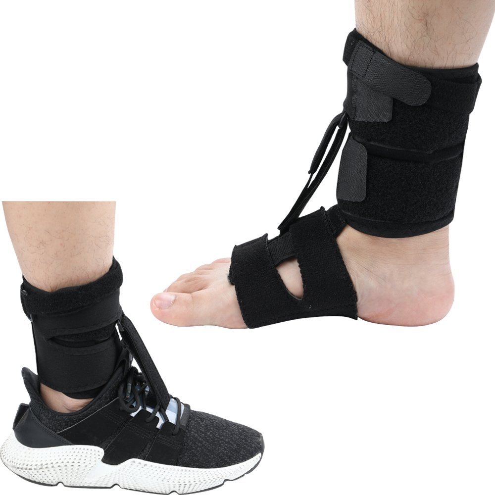 Right Or Left Drop Foot Brace,Plantar Fasciitis Splint,Day/Night Dorsal Splint,Foot up Brace Prevent Dragging,Ware Barefoot/Inside Shoes,for Stroke,Achilles Tendonitis,Muscular Distrophy by igoeshopping
