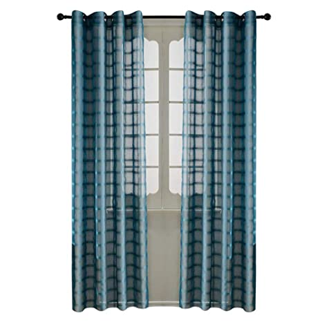 office drapes wall paper top finel wide stripe plaid curtains for kids room semi sheer grid grommet drapes office amazoncom