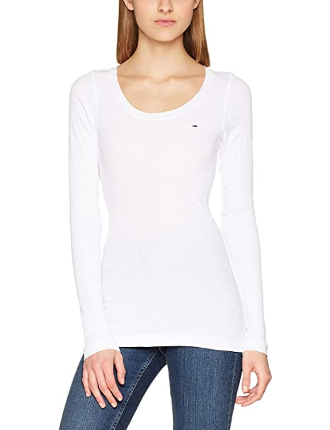 sneakers for cheap shop best sellers sale online Tommy Hilfiger Women's Long Sleeve Original Ribbed Shirt